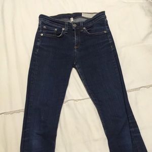 Rag & Bone hi rise skinny jeans. Size 25